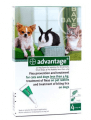 ADVANTAGE GREEN FOR SMALL DOGS and CATS UNDER 4KG (8.8lbs) 4PK